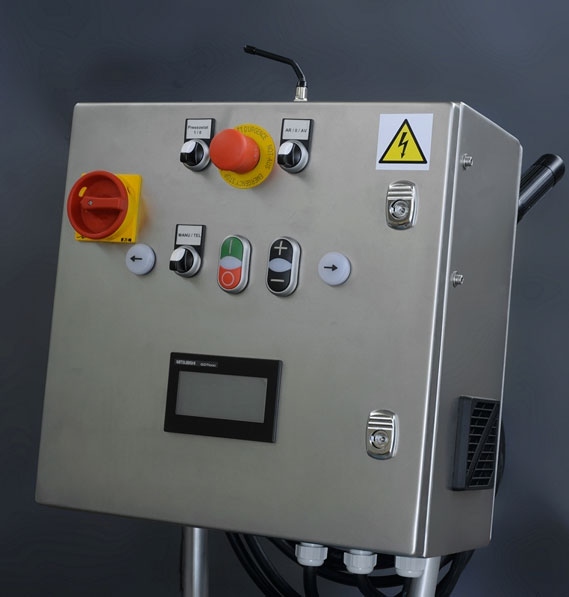 stainless steel control panel -- optional